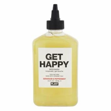 100% Natural Get Happy Body Wash Geranium & Peppermint - 9.5 fl. oz. by Plant Apothecary (pack of 6)