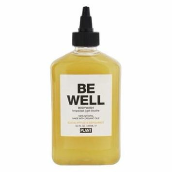 100% Natural Be Well Body Wash Eucalyptus & Bergamot - 9.5 fl. oz. by Plant Apothecary (pack of 6)
