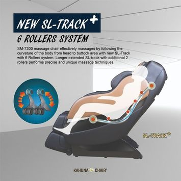 Top Performance Kahuna Superior Massage Chair with SL-Track 6 Rollers - SM-7300