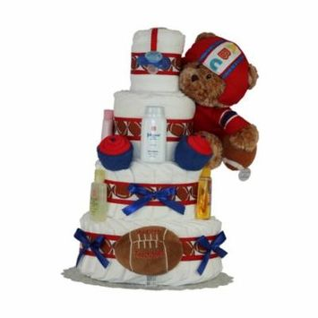 My First Touch Down Diaper Cake