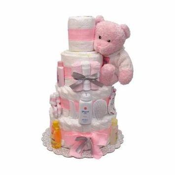 Bebe Girl Diaper Cake 4 Tiers