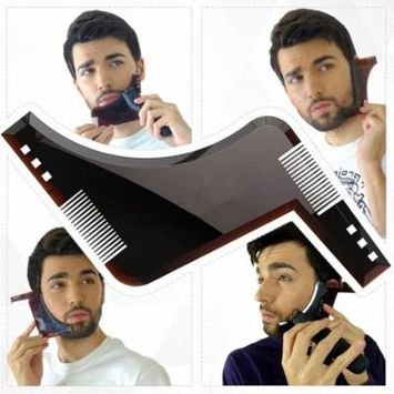 BeautyTale Beard Shaping Comb Facial Hair Shaper Trimmer Shaping Tool Beard Trim Template for Perfect Lines and Symmetry