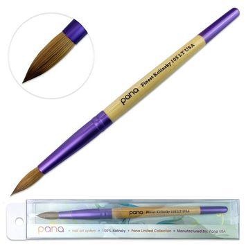 Pana Kolinsky Acrylic Nail Brush with Beige Purple Wood Handle - Size 10