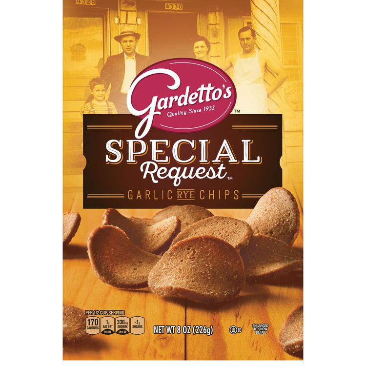 Gardetto's, Snack Mix, Roasted Garlic Rye Chips, 8 oz. Bag