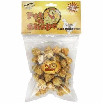 Pet 'n Shape Chik 'n Dumbbells Dog Treats 8 oz - Pack of 6