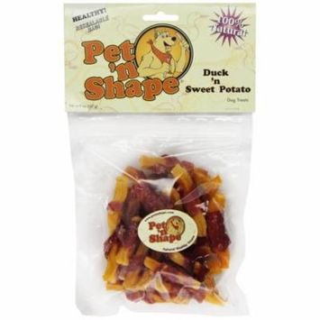 Pet 'n Shape Duck 'n Sweet Potato Dog Treats 8 oz - Pack of 12