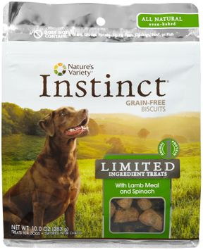 Natures Variety Nature's Variety Instinct Limited Ingredient Biscuit Treats With Lamb Meal & Spinach