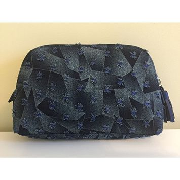Bergdorf Goodman Denim Cosmetic Bag, LIMITED EDITION