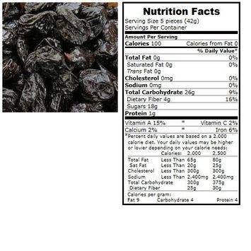 BULK B Prunes, Organic, Pitted, lb (pack of 30 )