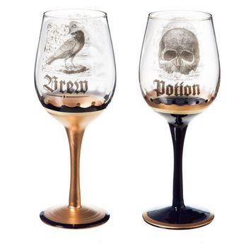 Enchanted Halloween Wine Glass, 2 Assorted 12oz.