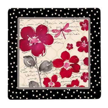 Floral Symphony Tempered Glass Surface Saver