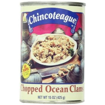 Chincoteague Seafood Chopped Ocean Clams, 15-Ounce Cans (Pack of 12)
