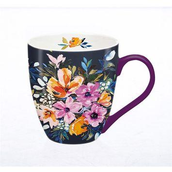 Ceramic Cup O' Java, 18 OZ., Watercolor Boho