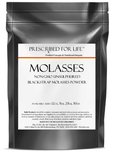 Prescribed For Life Molasses Powder- Unsulphured Blackstrap Molasses (non-GMO)
