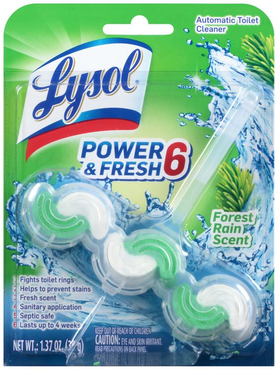 lysol® forest rain scent power & fresh 6 automatic toilet cleaner