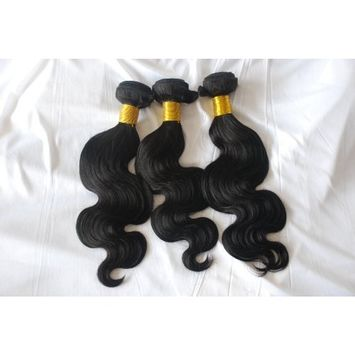 Top quality 5A grade weaving 100% natural virgin black color factory price body wave Cambodian hair extension (16)