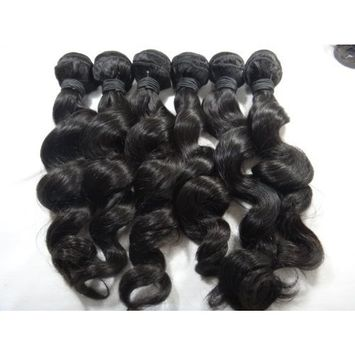 5a Grade Peruvian 100% Human Hair Weave Unprocessed Natural High Quality Loose Wave Hair Extensions Factory Price (24)