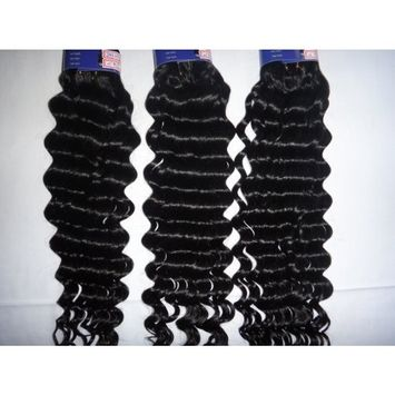 5a Queen Beauty Top Quality Virgin Hair Deep Wave Brazilian Hair 100% Queen Natural Color Human Hair 3pcs/lot Tangle Free (12+12+12 Inches)