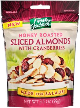 fresh gourmet® honey roasted with cranberries sliced almonds