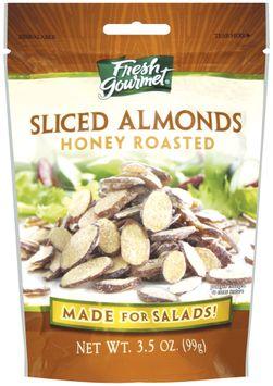 Fresh Gourmet Honey Roasted Sliced Almonds