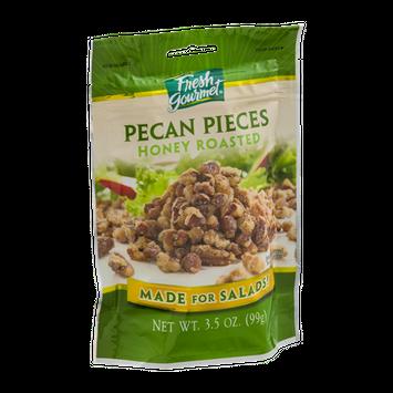 Fresh Gourmet Pecan Pieces Honey Roasted