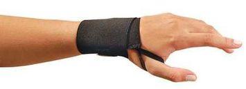 OCCUNOMIX 311L68 Wrist Support, Thumb Loop, Black