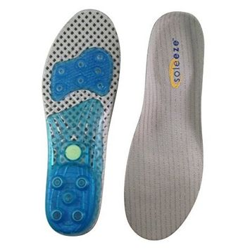 Soleeze Spring Loaded Shoe Insoles with Antibacterial Bamboo Fabric - X-Large (Men's 11-13 Women's 12-13.5)