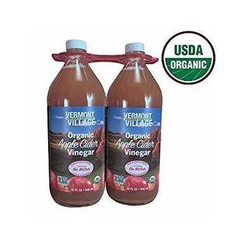 Vermont Village Raw Organic Apple Cider Vinegar, 2 pk./32 oz.
