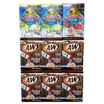 Margaritaville & A&W Singles to Go Drink Mix Ultimate Summer Variety