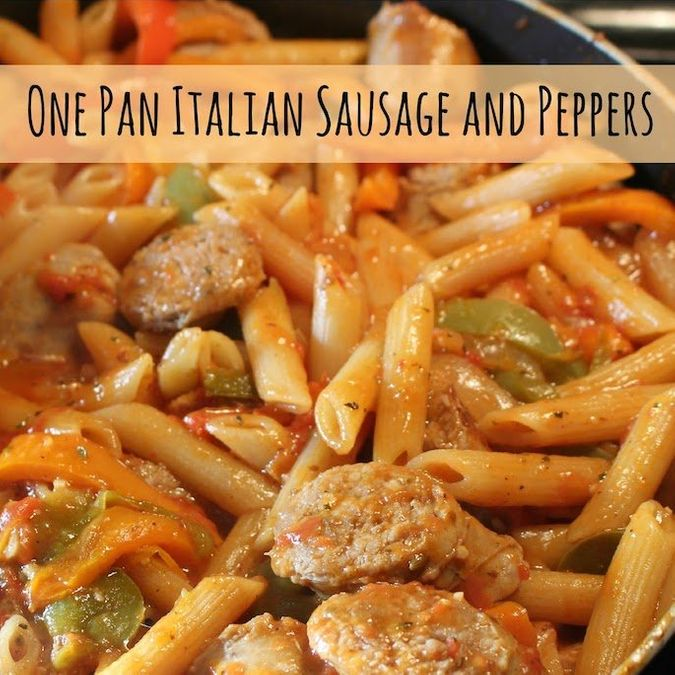 What's for Dinner?: One Pan Italian Sausage and Pepper Pasta