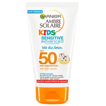 Garnier Ambre Solaire Kids SPF 50 Wet Skin Lotion