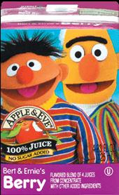 Apple & Eve® Sesame Street Bert & Ernie's Berry