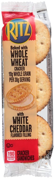 RITZ Crackers Whole Wheat Sandwich And White Cheddar
