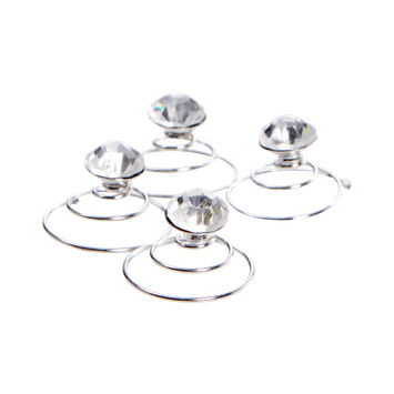 Dcnl Hair Accessories DCNL Swirl Diamond Pins 4 Piece