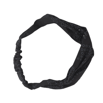 Dcnl Hair Accessories DCNL Black Eyelet Cloth Headwrap