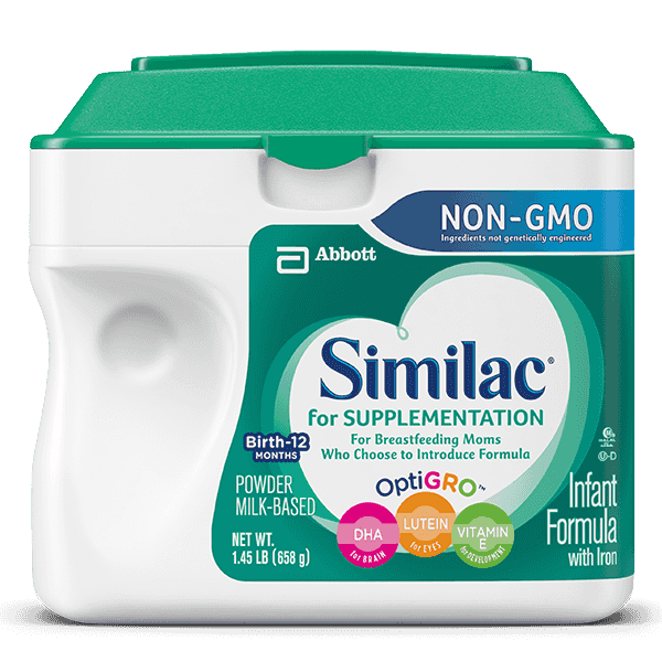 Similac® For Supplementation NON‑GMO Infant Formula