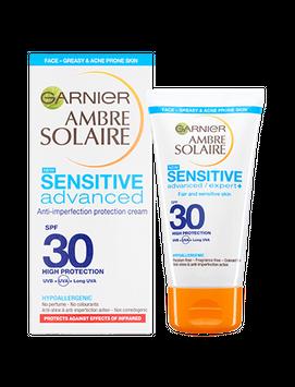 GARNIER Ambre Solaire Sensitive Anti Imperfection Face Sun Cream Spf30