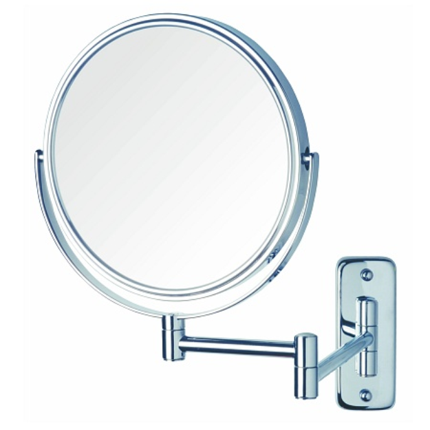 Jerdon Wall Mount Mirror 8 inch w/ 8X Magnification and Chrome Finish