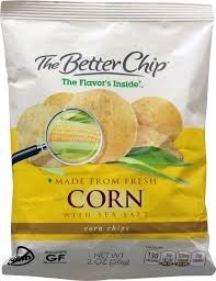 The Better Chip Gluten Free Corn Chips Fresh Corn & Sea Salt 2 oz