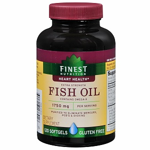 Finest Nutrition Fish Oil 1750 mg Extra Strength Softgels