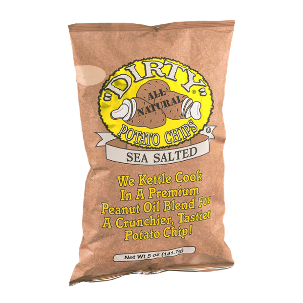 """Dirty"" All Natural Potato Chips Sea Salted"