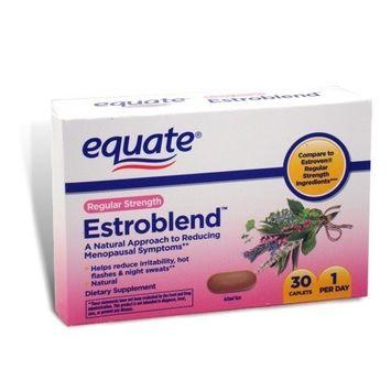 Equate - Estroblend, 30 Caplets, Regular Strength. For Menopause (Compare to Estroven)