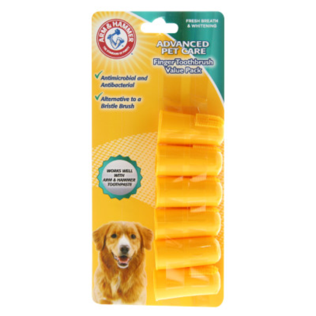 ARM & HAMMER™ Advanced Pet Care Dog Finger Toothbrush Value Pack