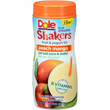 Dole Shakers Peach Mango Fruit Smoothie Fruit & Yogurt Kit