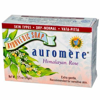 Auromere Ayurvedic Bar Soap Himalayan Rose 2.75 oz