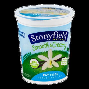 Stonyfield Organic Smooth & Creamy Fat Free Yogurt French Vanilla