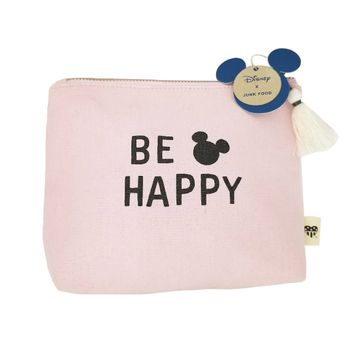 Junk Food Mickey Pink Be Happy Cosmetic Bag