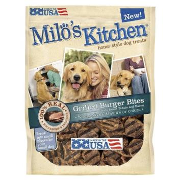 Milo's Kitchen Home Style Dog Treats - Grilled Burger Bites (15 oz)