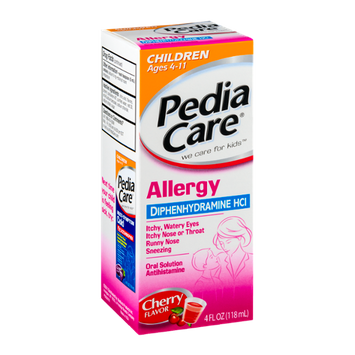 PediaCare Allergy Oral Solution Ages 4-11 Cherry Flavor