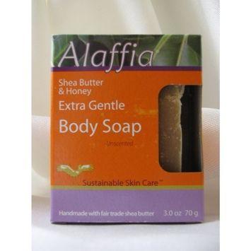 Alaffia Shea Butter & Honey Extra Gentle Body Soap, Unscented, 3 oz